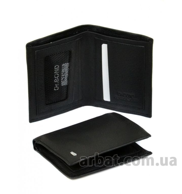 Кошелек Classik кожа dr.Bond MS-7 black