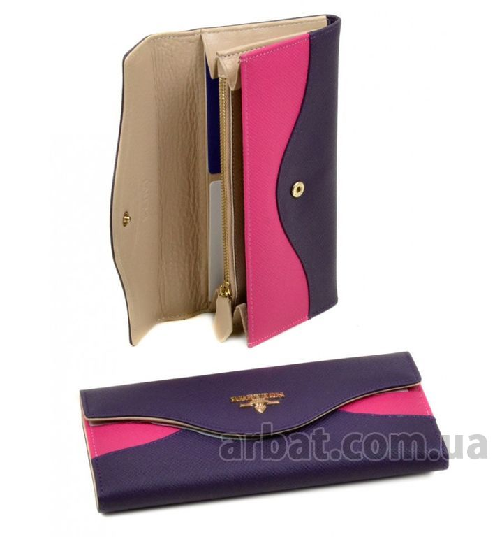 Кошелек кожа Bretton WF-20 violet-plum-red*