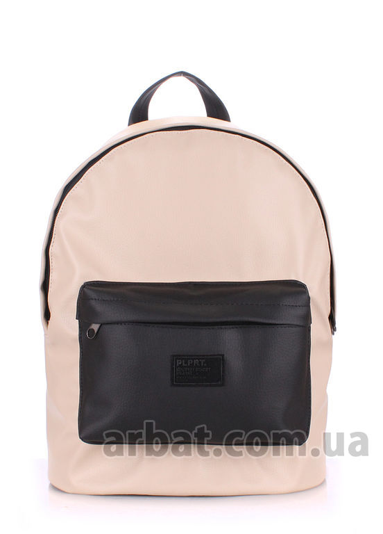 Рюкзак backpack-pu-beige-black*