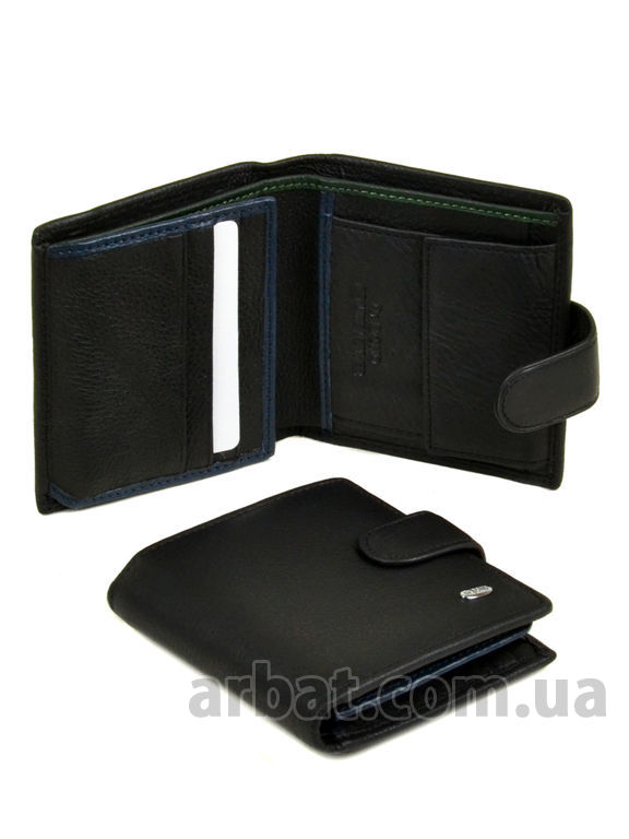Кошелек Classik-color кожа DR. BOND MS-22 black-blue-green