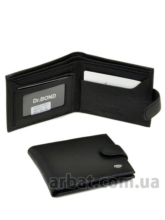 Кошелек Classik кожа DR. BOND M60-1 black