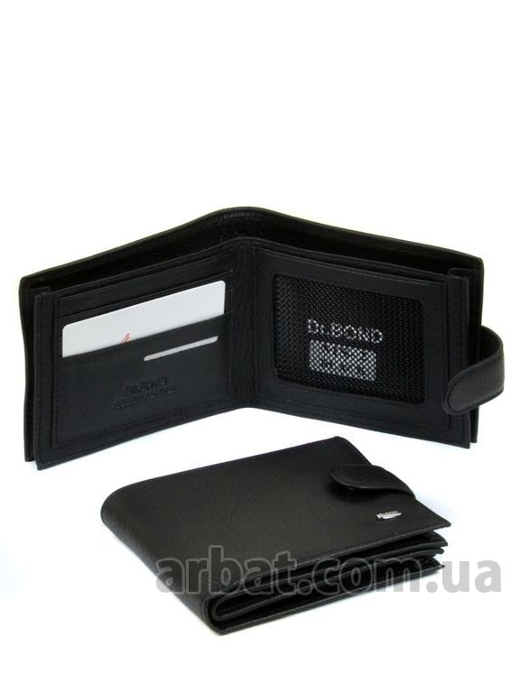Кошелек Classik кожа DR. BOND MS-2 black